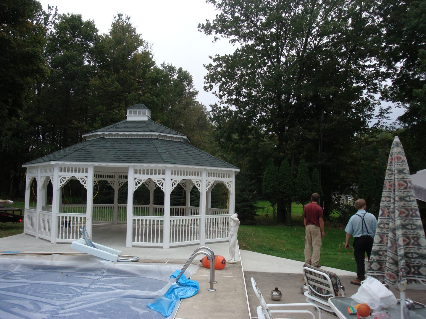 vinyl 22 foot oval gazebo