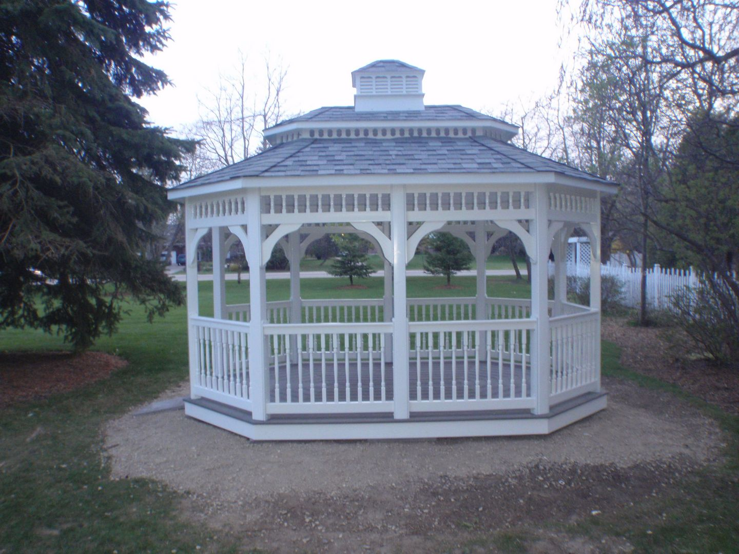 12 by 16 foot oval gazebo
