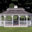 vinyl 12 by 20 foot oval gazebo