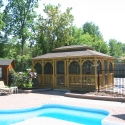 wooden 12 by 18 foot rectangle gazebo