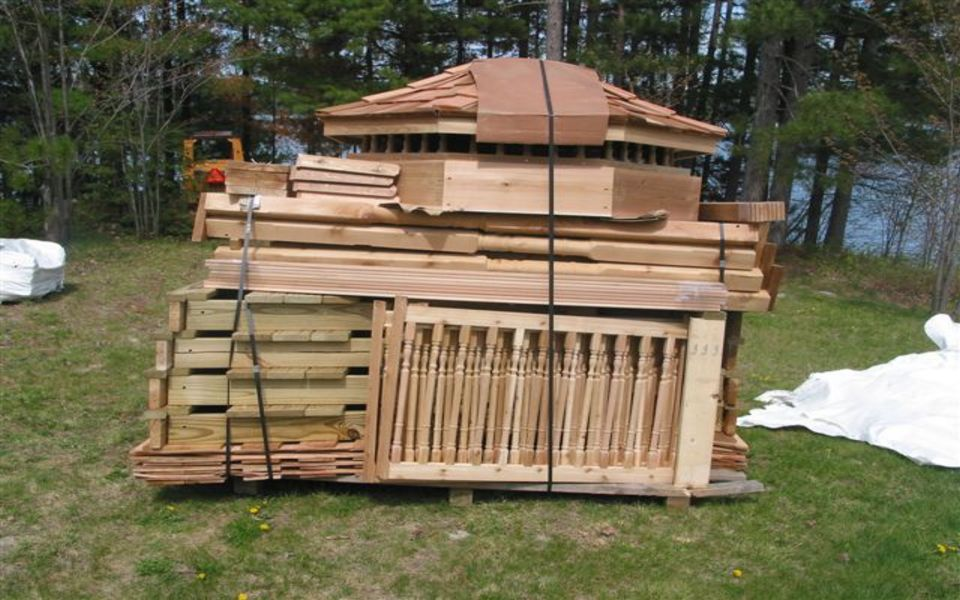 Muskoka amish built gazebo kits amish built pergola for Built in gazebo