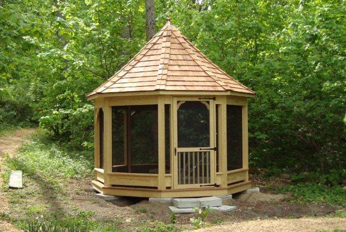 Amish built gazebo kits amish built pergola kits for Built in gazebo