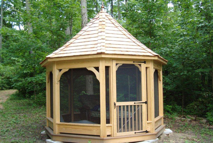 Amish built gazebo kits amish built pergola kits for Built in gazebo
