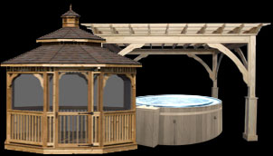 Wooden Octagon Gazebo