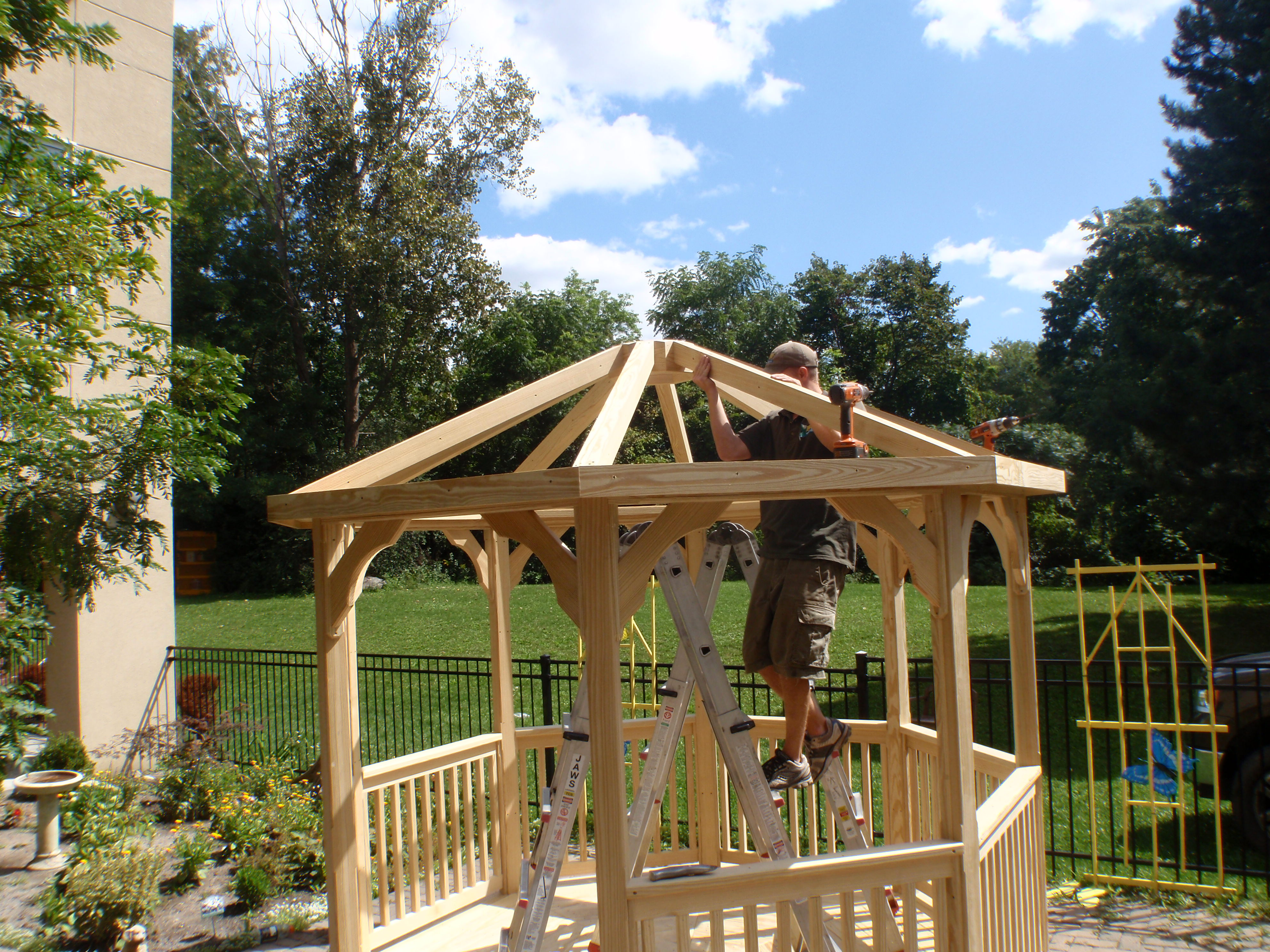 edmonton amish built gazebo kits u0026 amish built pergola kits