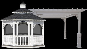 White Vinyl Oval Gazebo
